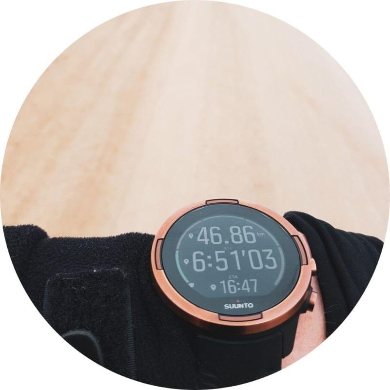 Suunto 9 baro copper - maršruta pārskats pēc atlikušajiem kilometriem, nepieciešamā laika, aptuvenā ierašanās laika