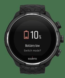 suunto 9 baro titanium - inteliģentās baterijas brīdinājums