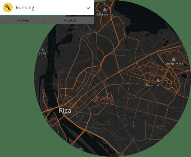 Suunto Movescount siltumkarte Rīgā