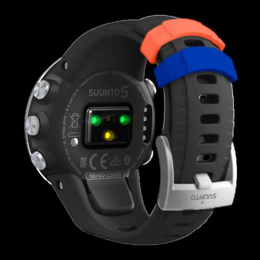 suunto 5 black steel pulsometrs - suunto pulksteņi