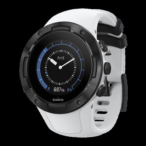 sporta pulkstenis suunto 5 black white pulsometrs - suunto pulksteņi