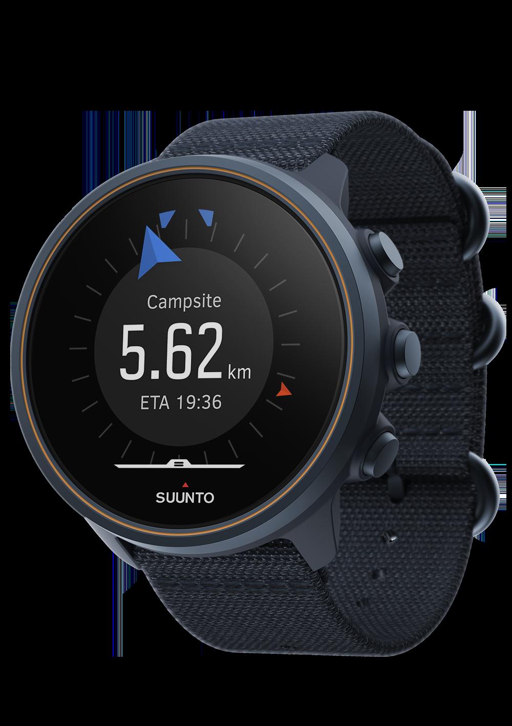 Suunto 9 Baro Titanium Granite Blue sporta pulkstenis - navigācija uz tuvāko interešu punktu