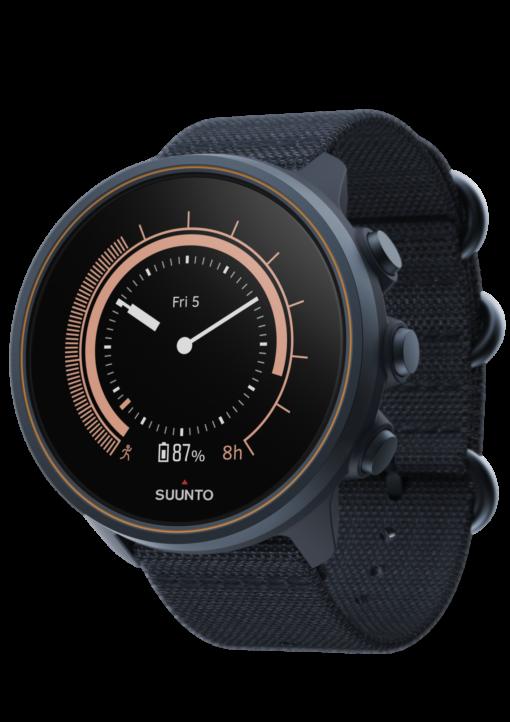 Suunto 9 Baro Titanium Granite Blue sporta pulkstenis - klasiskais pulksteņa ģīmis