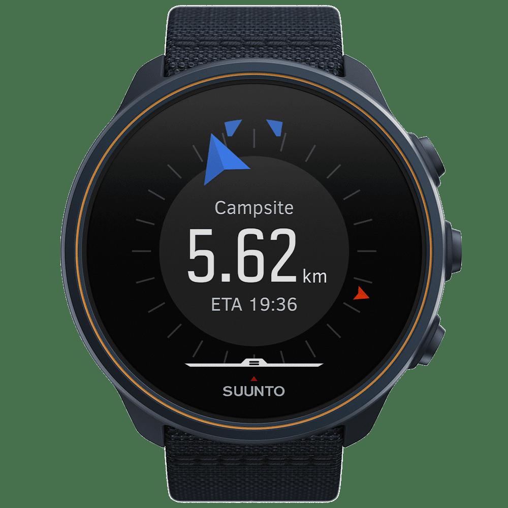 Suunto 9 Baro Titanium Granite Blue sporta pulkstenis - attālums līdz tuvākajam interešu punktam