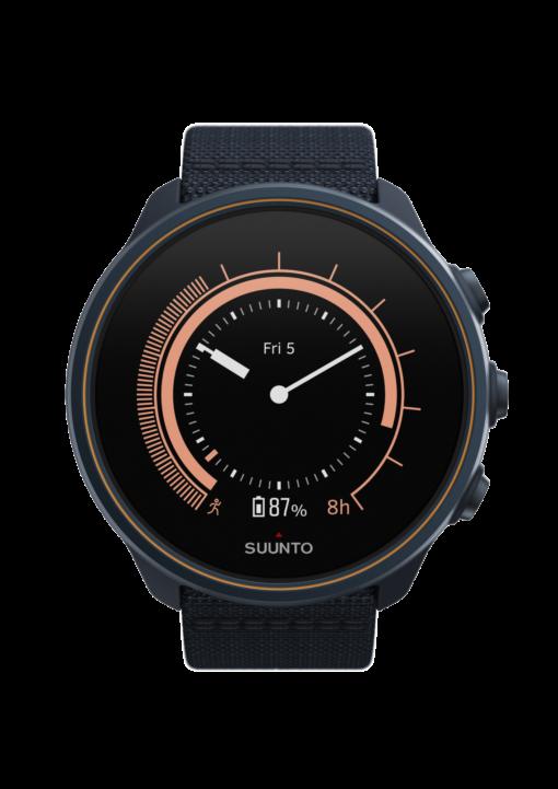 Suunto 9 Baro Titanium Granite Blue sporta pulkstenis - pulksteņa izskats