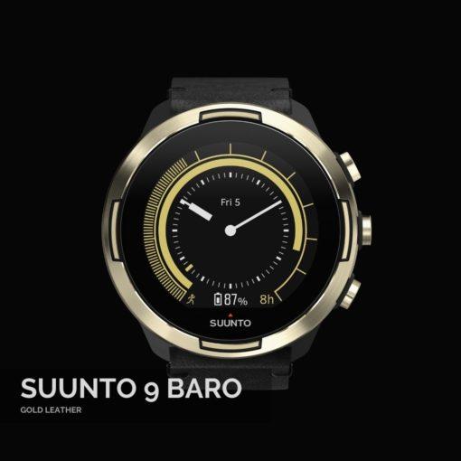 Suunto 9 Baro Gold Leather Sporta Pulkstenis