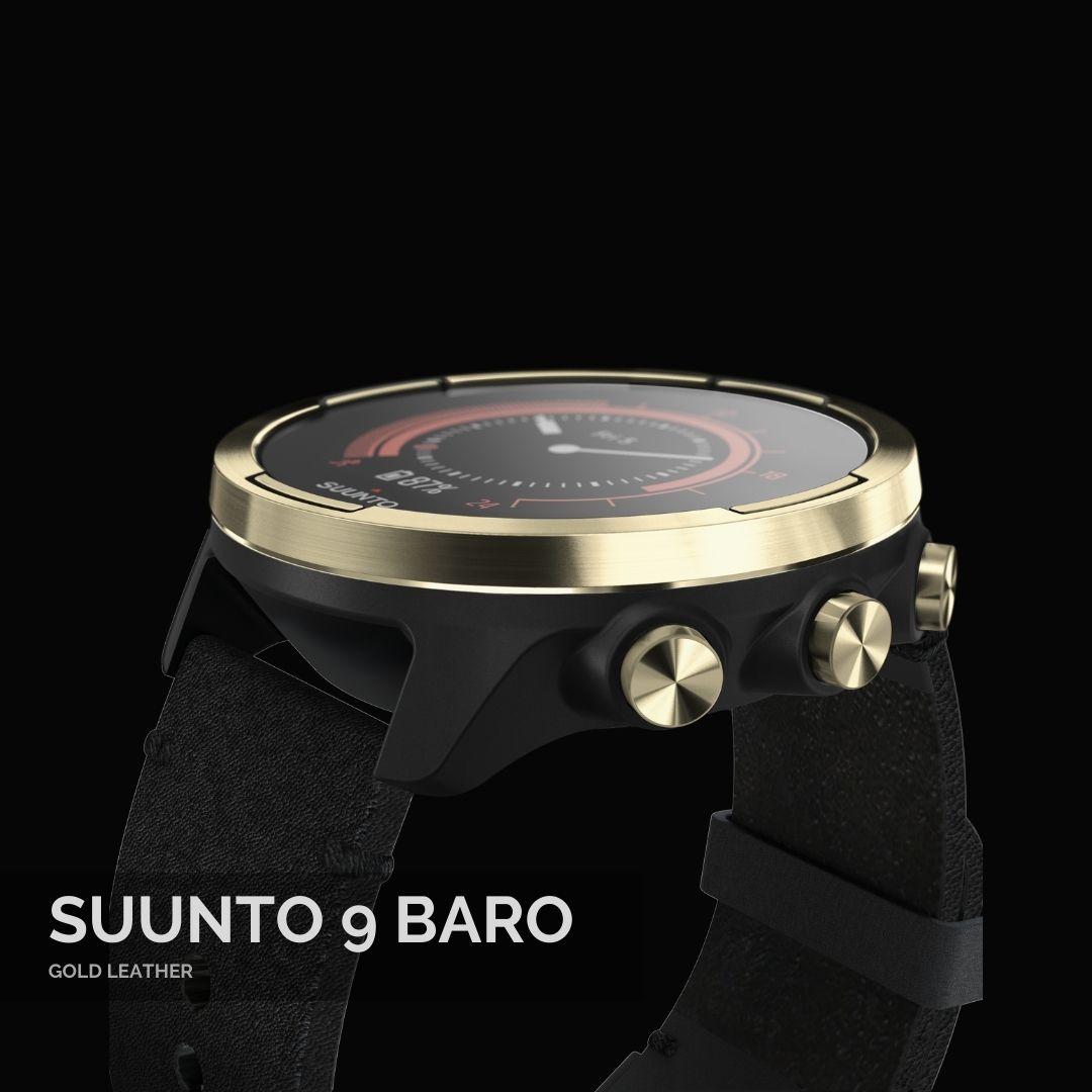 Suunto 9 Baro Gold Leather Sporta Pulkstenis - 5