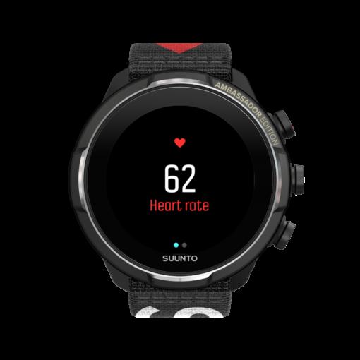 Suunto 9 baro titanium ambassador vīriešu rokas pulkstenis - pulsa priekšskatījums