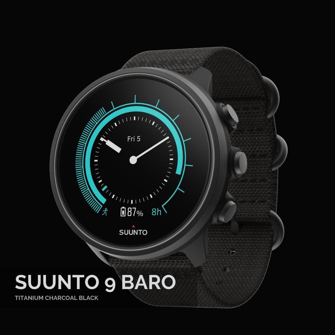 Suunto 9 Baro Titanium Charcoal Black Sporta pulkstenis