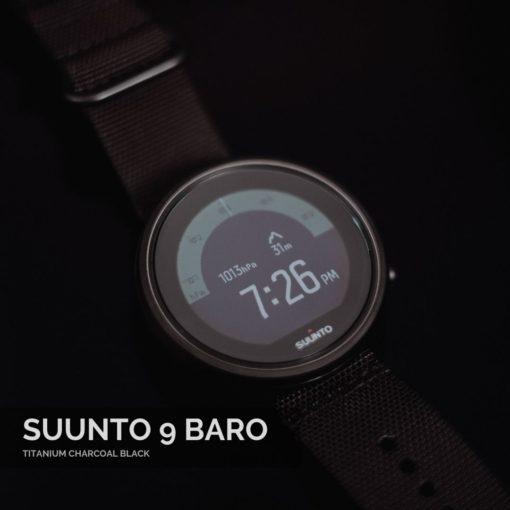 Suunto 9 Baro Titanium Charcoal Black vīriešu rokas pulkstenis
