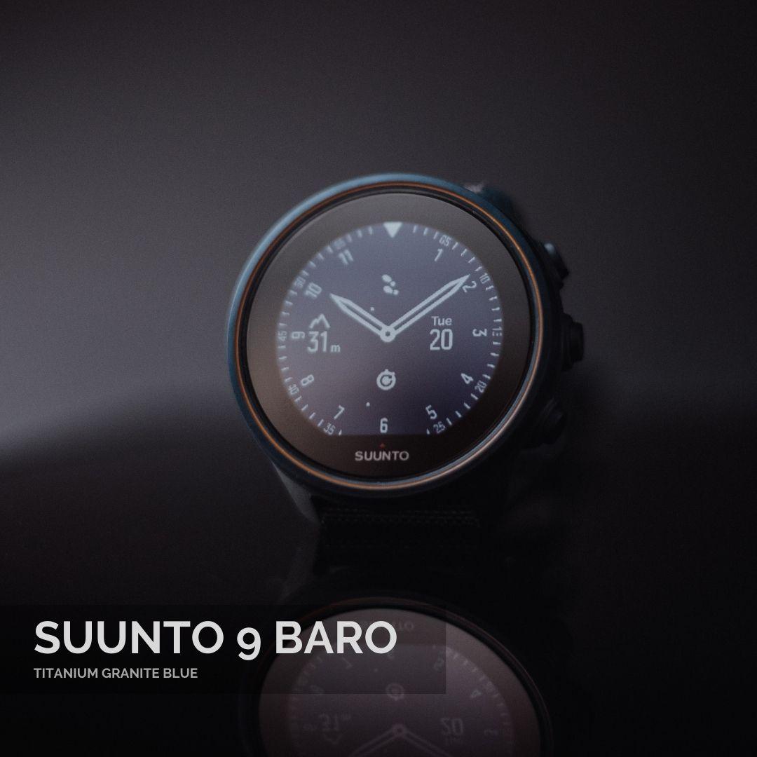 Suunto 9 Baro Titanium Granite Blue Vīriešu Rokas Pulkstenis