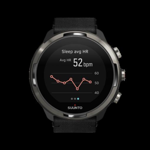 Suunto 9 baro titanium Leather vīriešu rokas pulkstenis - ikdienas pulsa pārskata grafiks
