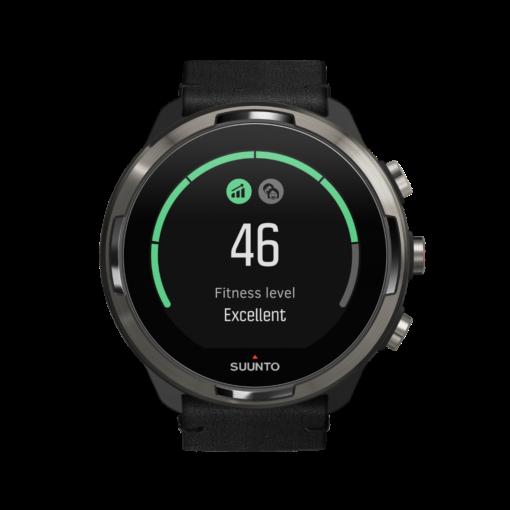 Suunto 9 baro titanium Leathervīriešu rokas pulkstenis - Fitnesa līmenis vo2/max