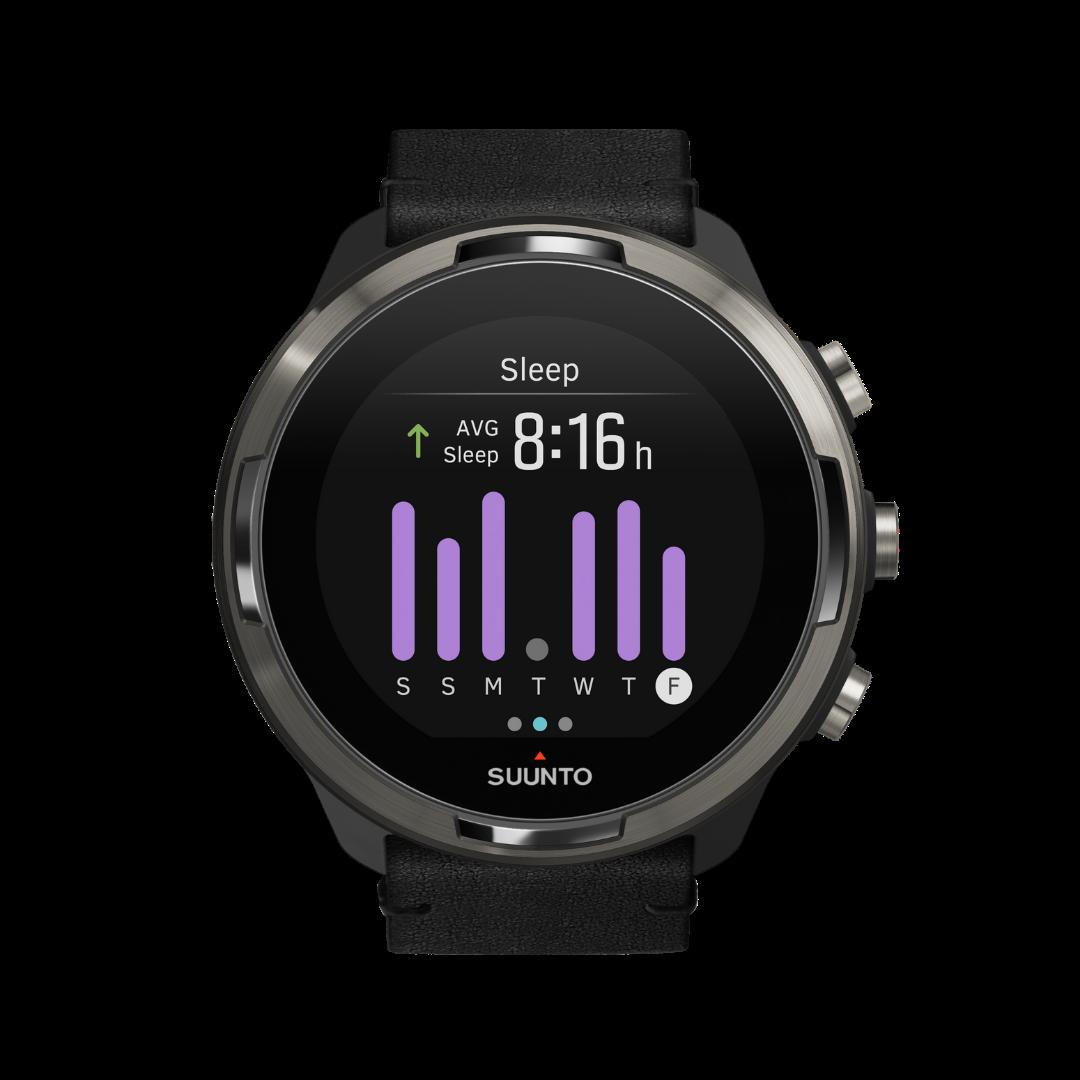 Suunto 9 baro titanium Leathervīriešu rokas pulkstenis - Nedēļas miega pārskats