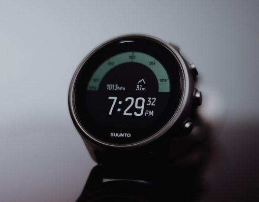 Suunto 9 Baro Titanium barometric watch face