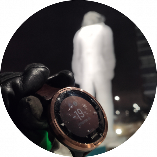 suunto 9 baro black vīriešu rokas pulkstenis - mīnus 19 grādu salā