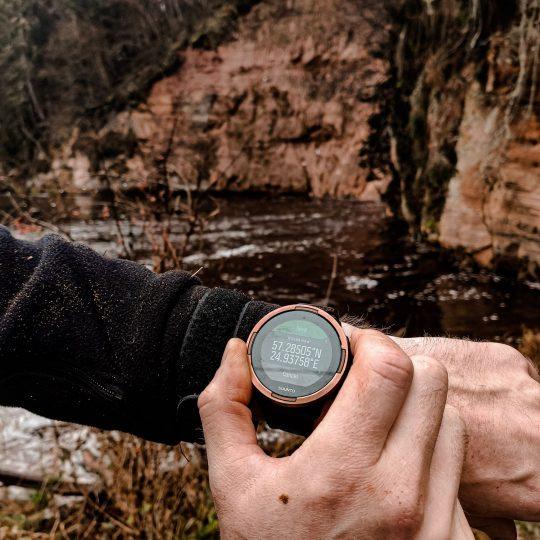 suunto 9 baro sporta rokas pulkstenis - koordinātas